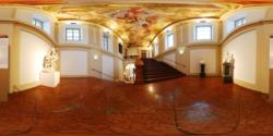 Liechtenstein Museum, ground floor - the stairs to the 1st floor